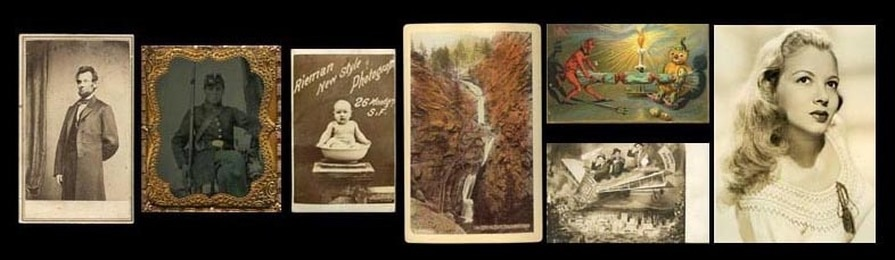 We sell original 19th - 20th Century Photos and Ephemera collectibles.